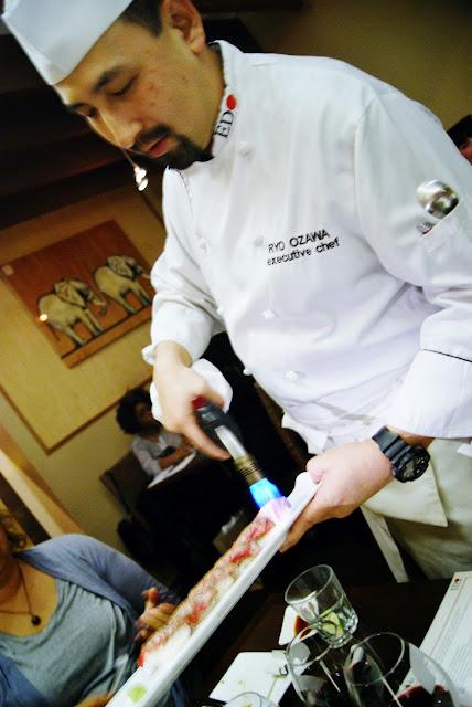 EDO-Ko Japanese Cuisine Restaurant in Toronto, barry Chaim, Executive Chef Ryo Ozawa, award, winning, winterlicious, sushi, seiyo-ryori, review, food, the purple scarf, melanie.ps, ontario, canada, kobe beef nigiri