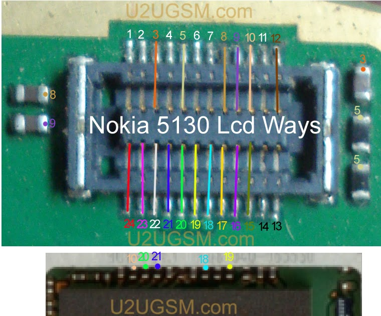 Nokia 5130 Lcd Display White Or Blank Solution Jumper Ways