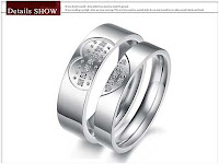 Cincin couple titanium online