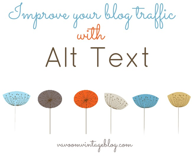 improve your blog traffic with alt text by Va Voom Vintage