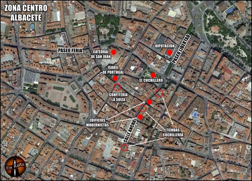 Mapa-Albacete-Monumentos