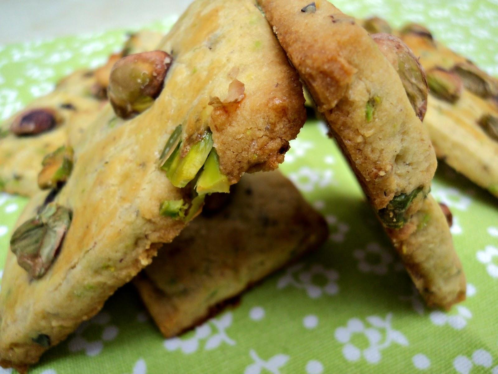receta casera galletas con pistachos