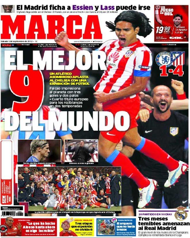 `Top 5´ las portadas que enmarcó Falcao con su hat-trick