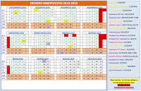 Συνοπτικό σχολικό ημερολόγιο 2018-19