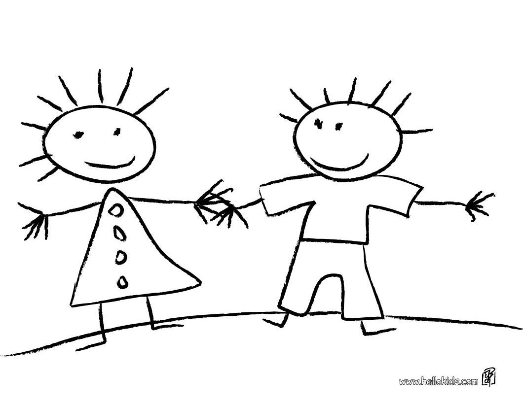Espa o educar 50 desenhos do dia do amigo para colorir for Ecole de dessin bayonne