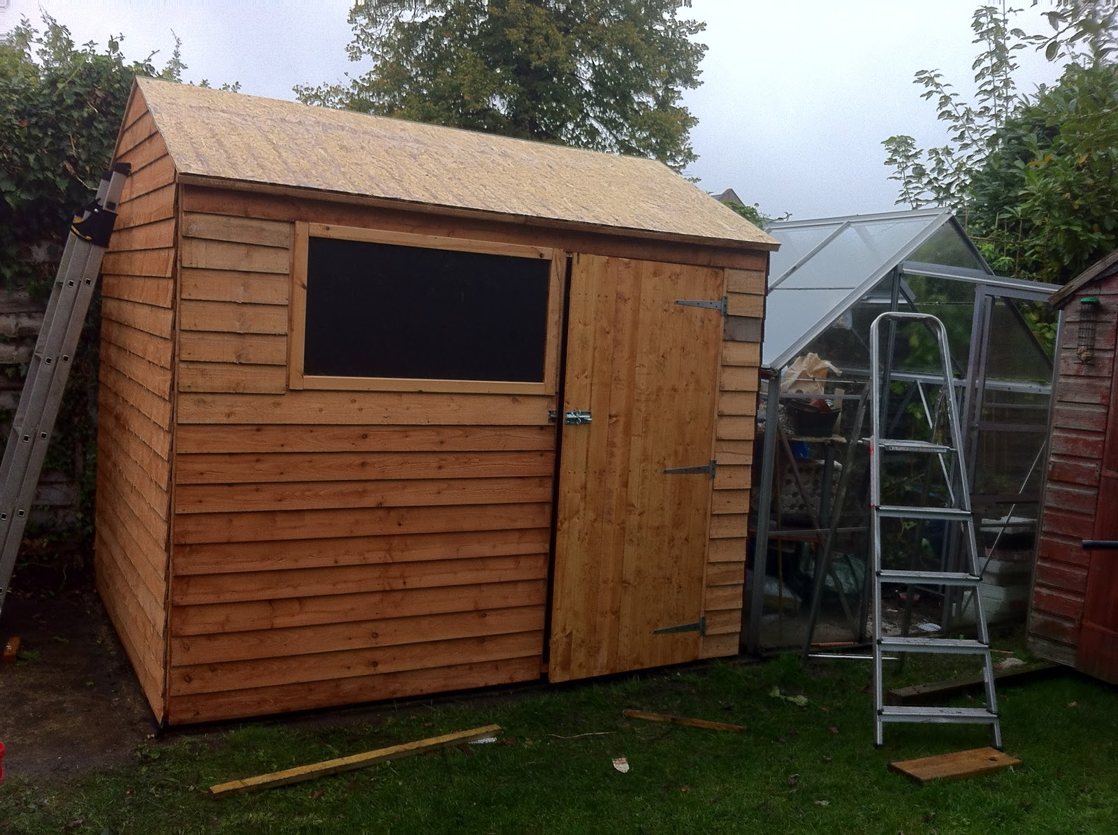 Donn small lawn mower shed 8x10x12x14x16x18x20x22x24 for Small lawnmower shed