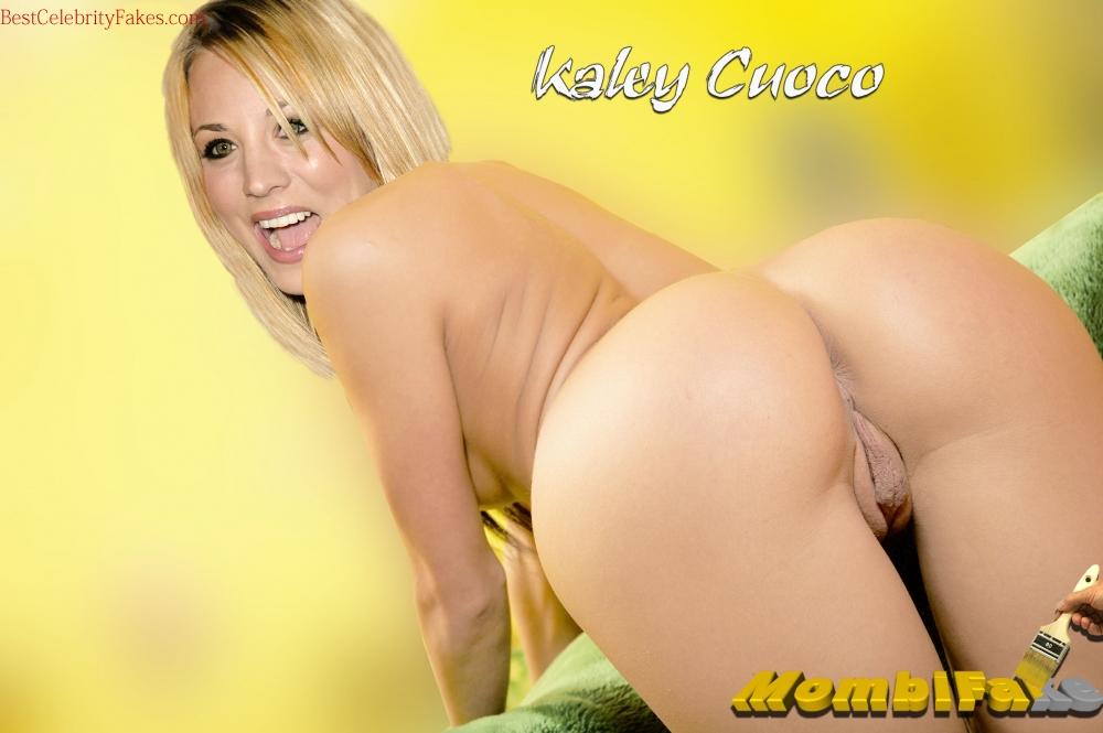Kaley cuoco hot kiss