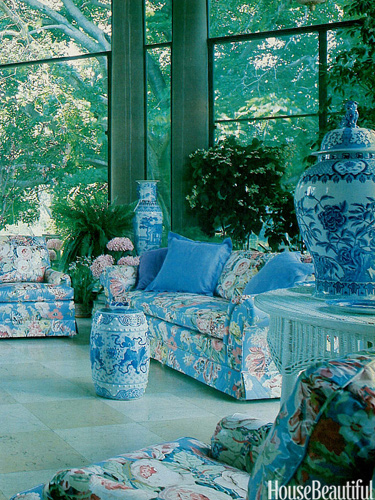 Chinoiserie chic chinoiserie and chintz for 80s floral couch