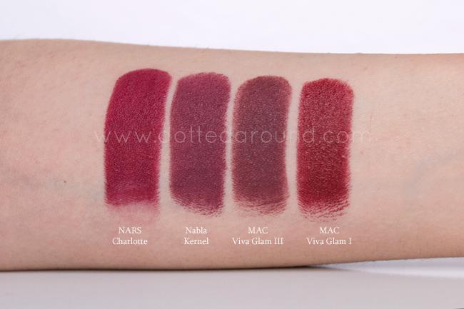 Nabla Kernel swatch rossetto lipstick mac