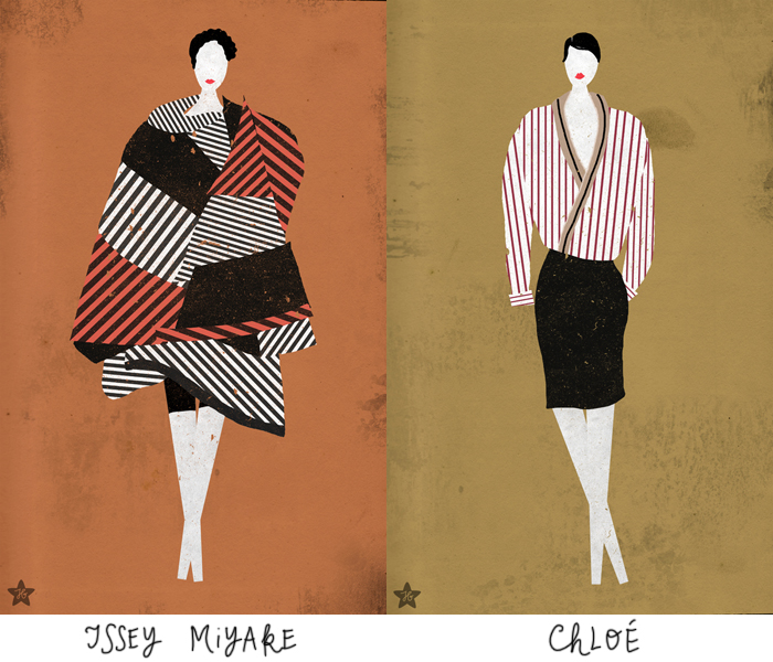 Fashion -- spring 2013: Issey Miyake, Chloé