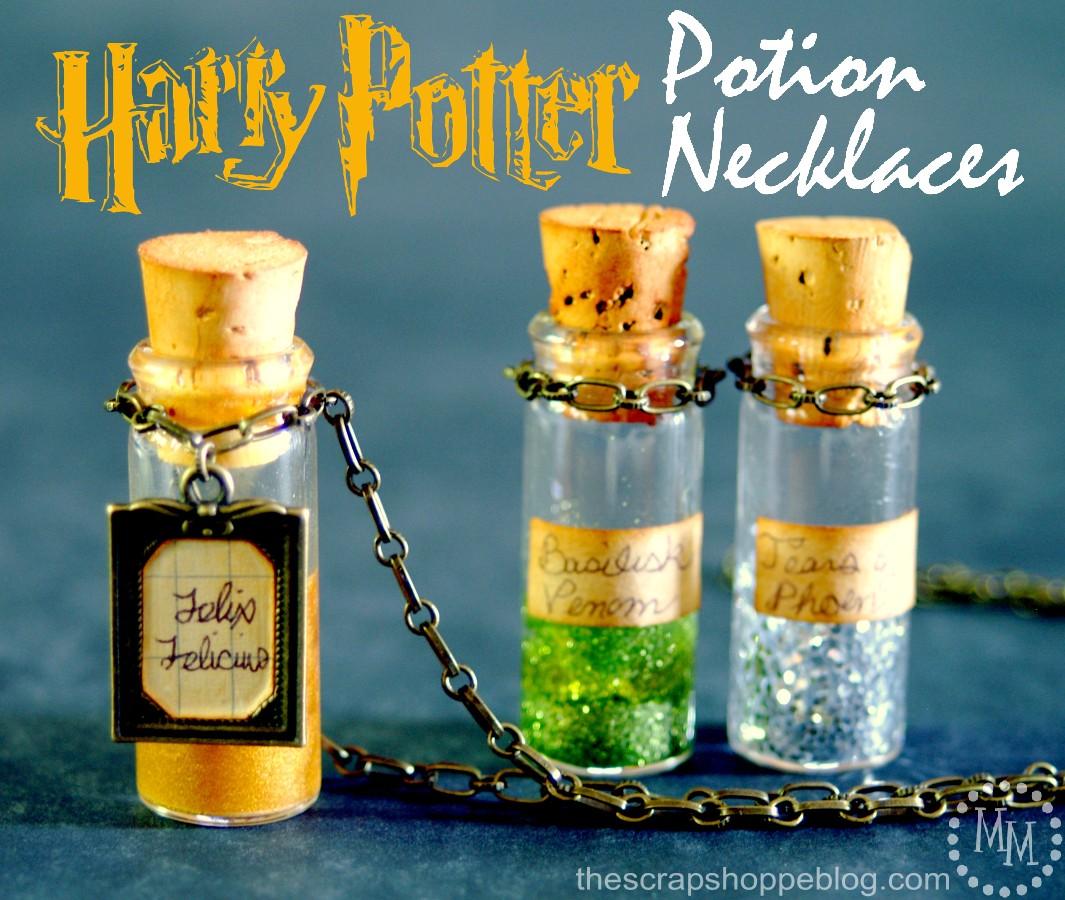 Harry Potter Potion Necklaces The Scrap Shoppe