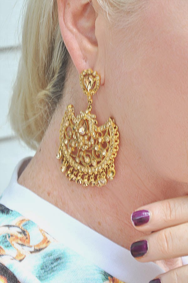 Drop Gold earrings La Bel Age Boutique San Diego