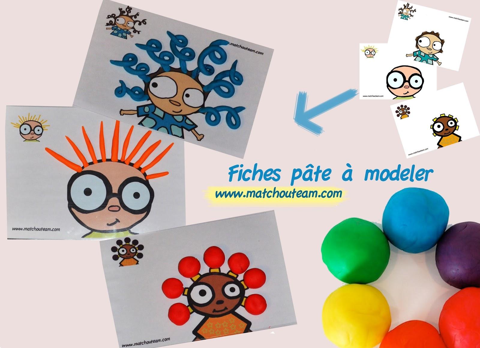 #C22209 Ma Tchou Team: 7 Fiches Pour La Pâte à Modeler 5519 décorations de noel tête à modeler 1600x1159 px @ aertt.com
