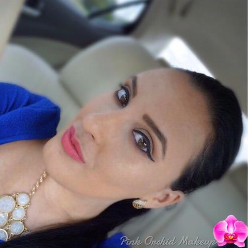 Liner-+-Soft-Coral-Lips-MOTD-Pink-Orchid-Makeup