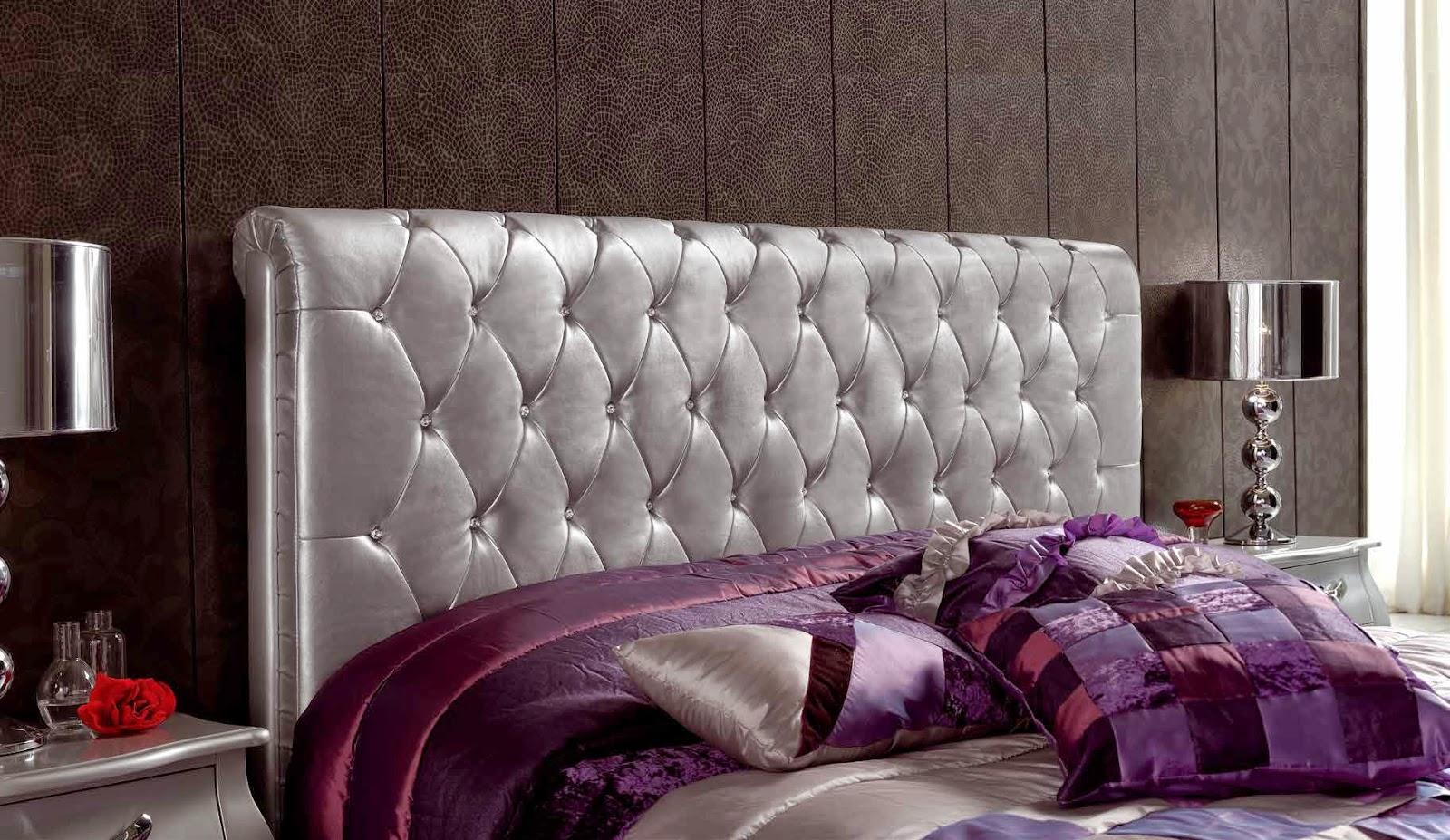Cabeceros de cama originales tapizados perfect interesting de fotos de cabeceros de cama - Cabeceros plateados ...
