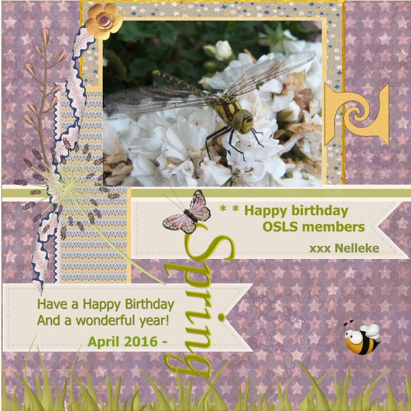 April 2016 - Happy birthday to you all OSLS members
