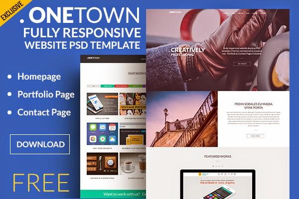 Free Responsive Website Templates PSD