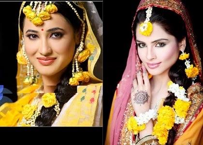 I Mehndi Flower Jewelry : Flower jewelry for mehndi and mayoon zem tv photo shoots