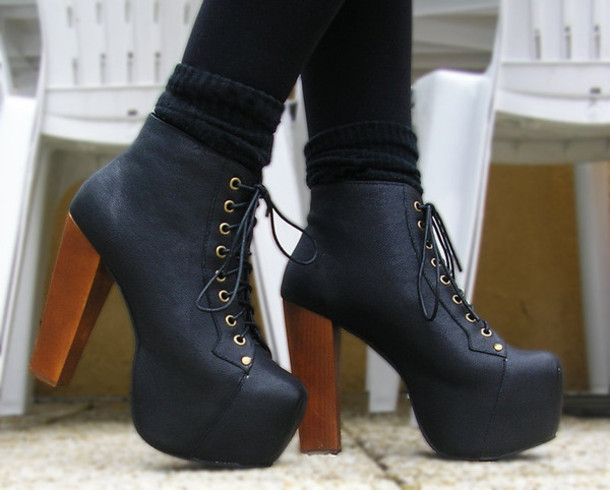 cognac black jeffrey campbell lita 39 s for less. Black Bedroom Furniture Sets. Home Design Ideas