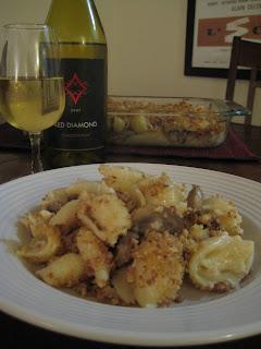 The Lush Chef: Brie & Mushroom Mac & Cheese with White Wine