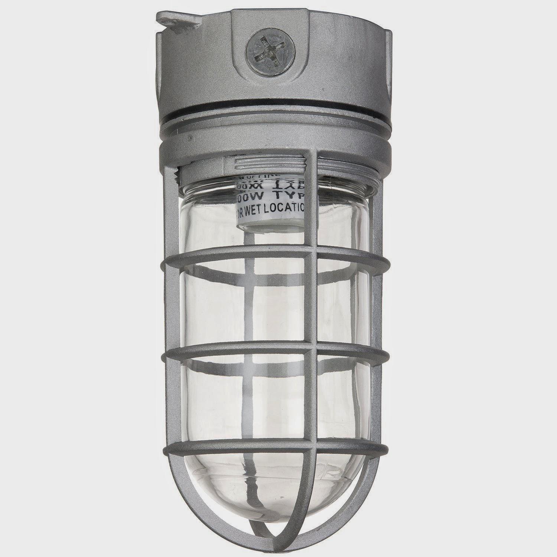ceiling light fixture sunlite vt100 5 5 inch 150 watt vapor proof. Black Bedroom Furniture Sets. Home Design Ideas