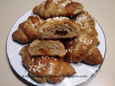 ricetta croissants integrali