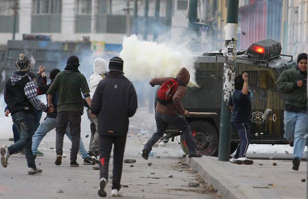 Rusuhan pelajar pada kerajaan di Chile