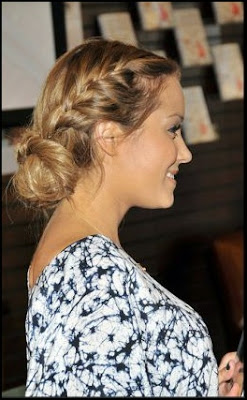 medium french braid updo