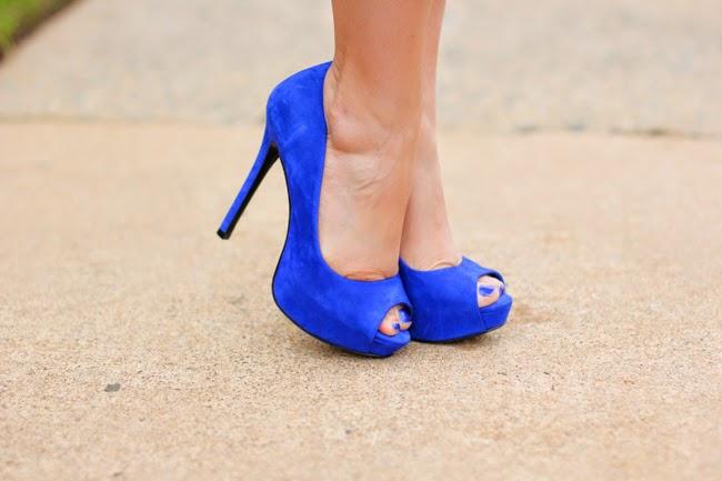 Schutz cobalt blue pumps