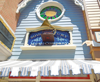 Disneyland 20th Century Music Company Main Street Shop