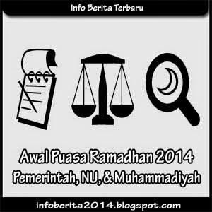 Awal Puasa Ramadhan 2014 Pemerintah, NU, dan Muhammadiyah