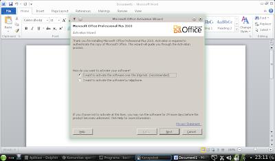 MS Office 2010 di openSUSE