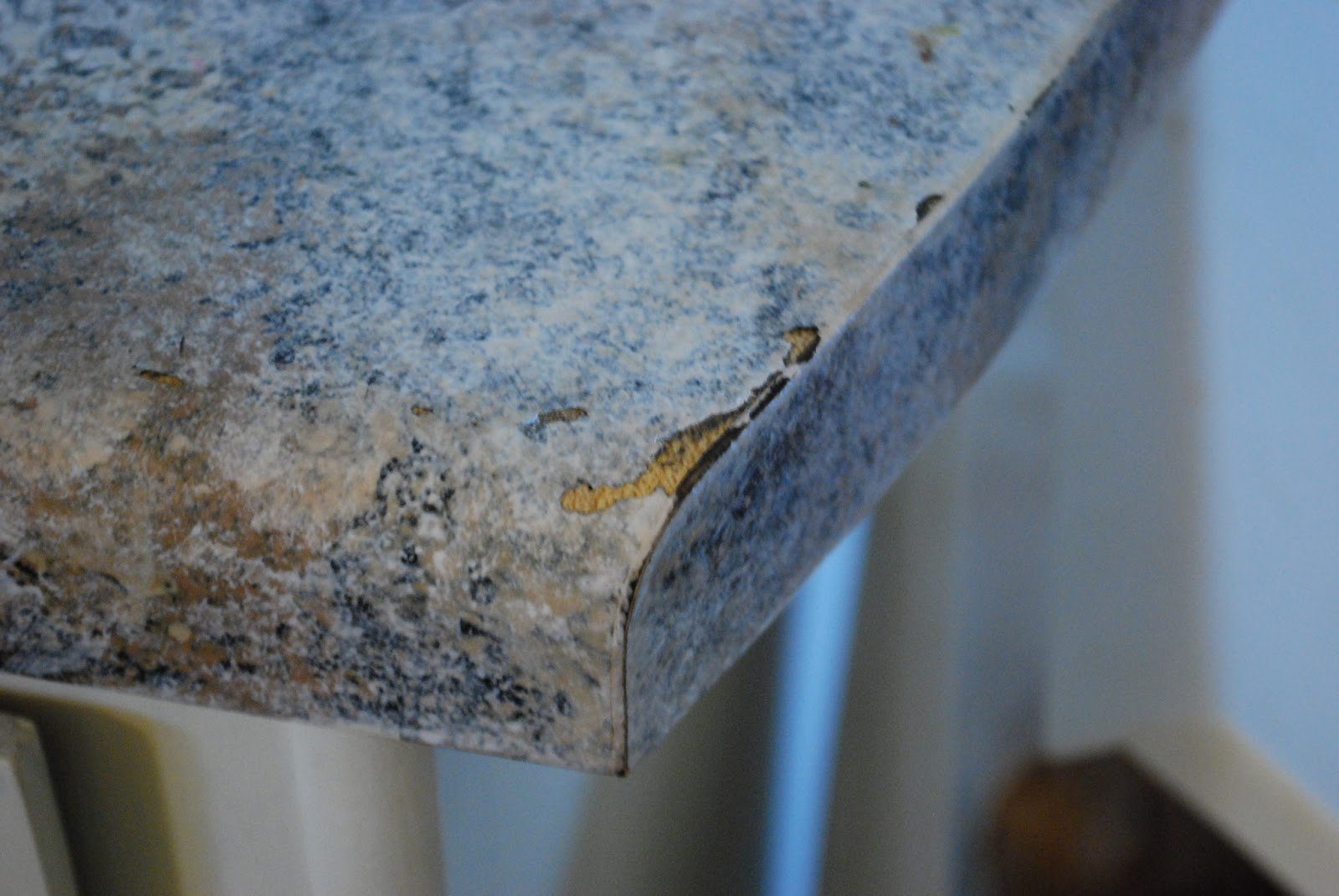 Countertop Paint Peeling : ... not cleaned up immediately, which causes the paint to soften and peel