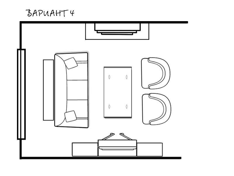 как нарисовать план гостиной