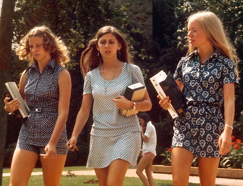 70s Girls Mini Skirts