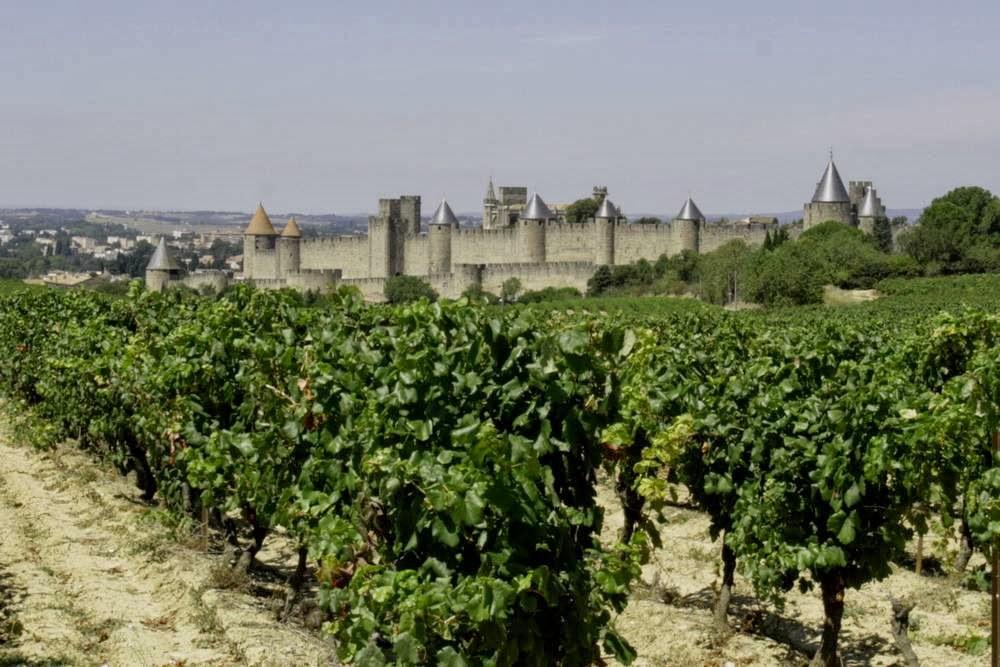 La Cite van Carcassonne in Frankrijk