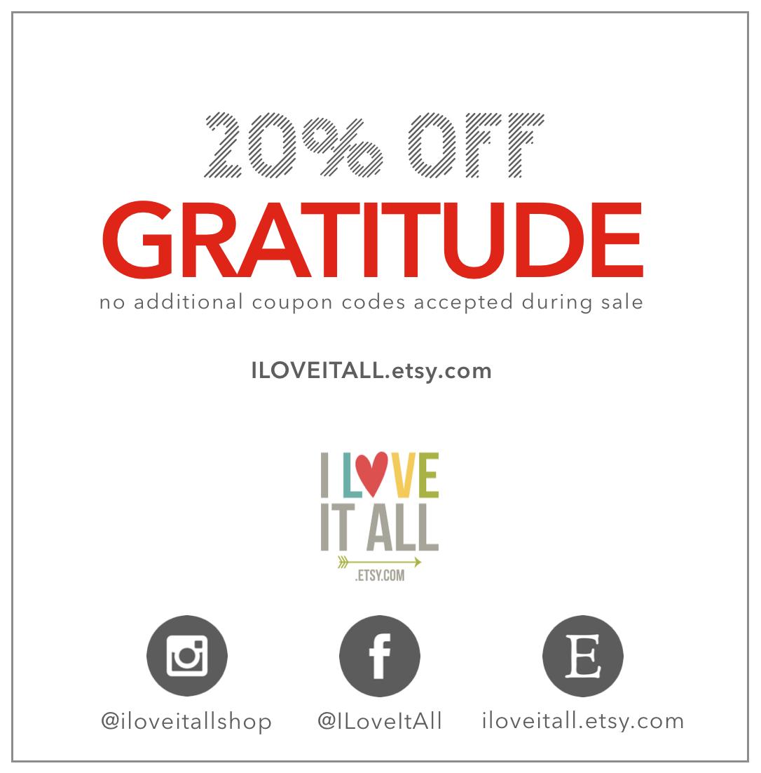 20% OFF GRATITUDE JOURNALS