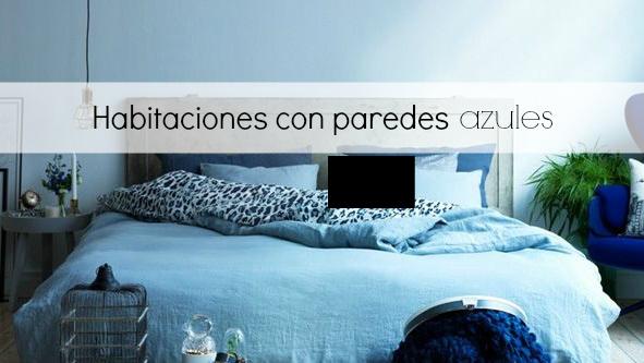 Un habitaci n con paredes en azul blanco y de madera - Tonos de azul para pintar paredes ...