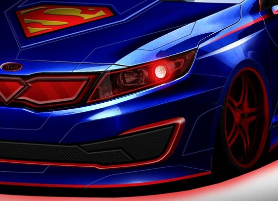 Superman-inspired Kia Optima Hybrid teaser image