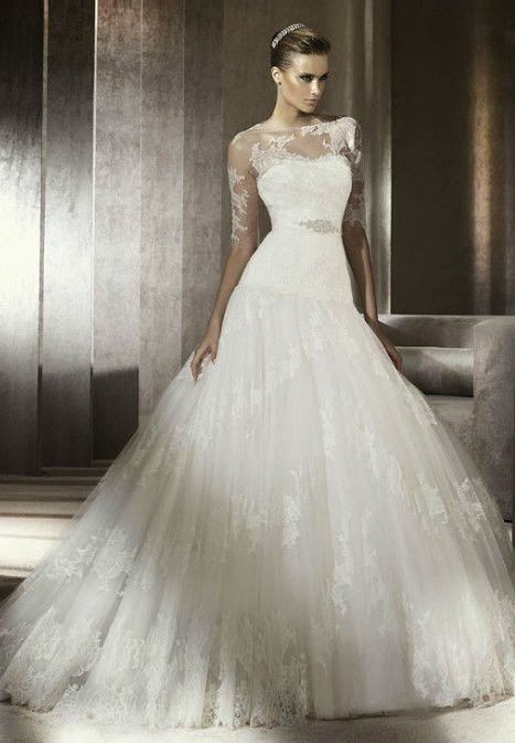 Stunning Winter Wedding Dresses : Elegant dresses beautiful winter wedding