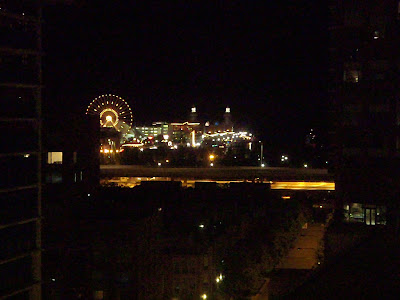 Navy Pier from outside our hotel room window.