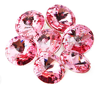 Light Pink Nail Stones, Swarovski Nail Stones