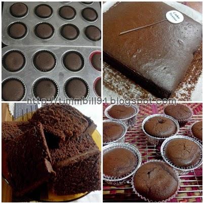 kek coklat moist simple