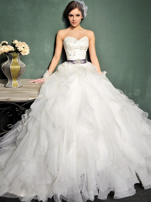 Wedding collections fluffy wedding dresses 2014 for Fluffy skirt under wedding dress