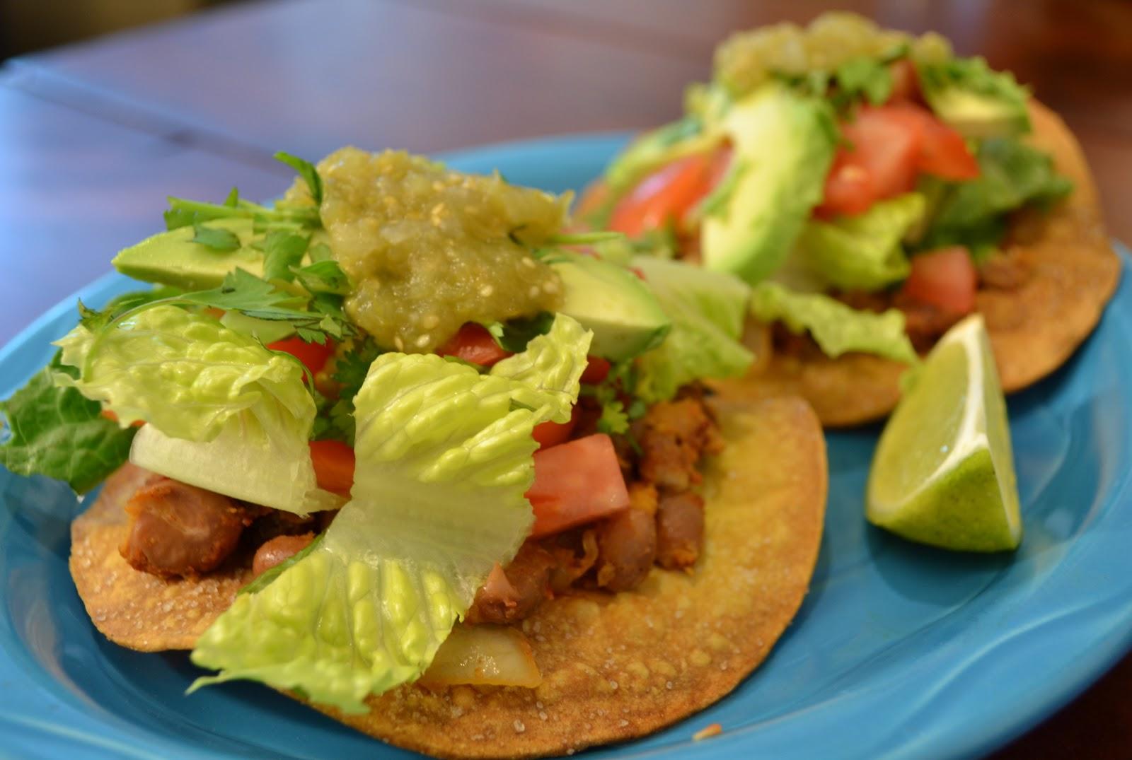 Veggies For Real: Chipotle Pinto Bean Tostadas