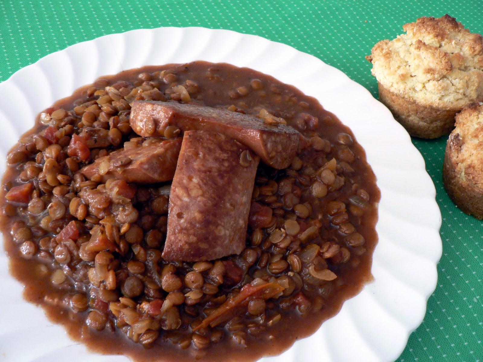 recette des lentilles aux saucisses | recettes-lentilles.fr
