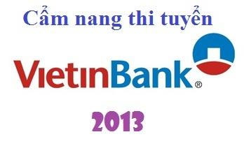 Cẩm nang thi tuyển Vietinbank 2012