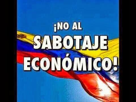 no al sabotaje economico...