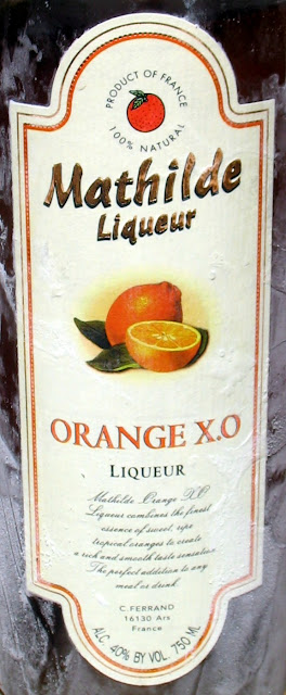A bottle of Mathilde Orange Liqueur