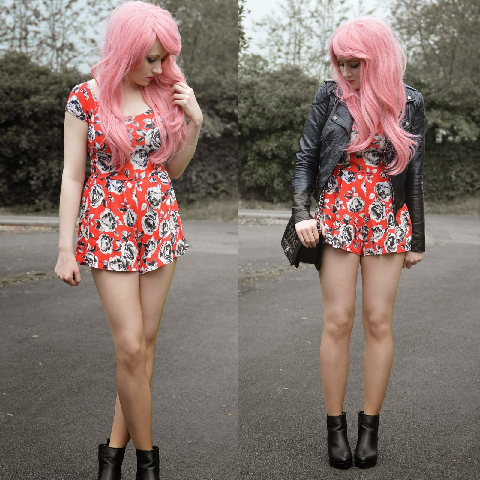 Sammi Jackson - Red Playsuit